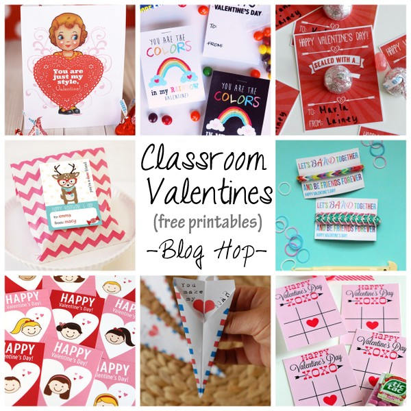 Paper airplane Valentine free printable blog hop – Homemade Valentine Cards for School