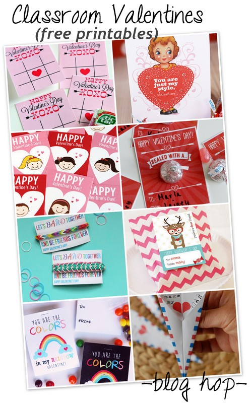 Classroom Valentine printables and a blog hop