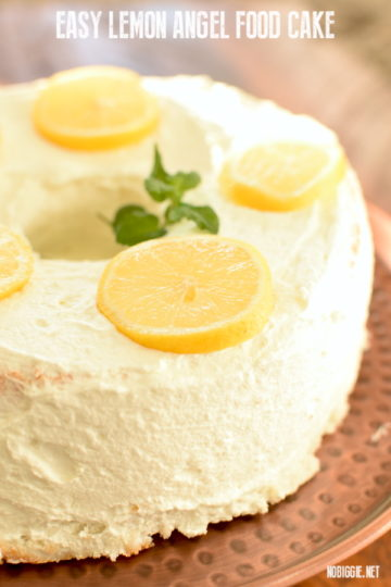 Easy Lemon Angel Food Cake