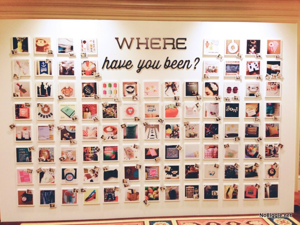 project photo wall at the Cricut Explore launch party
