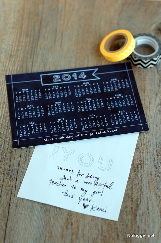 send a thank you note they will love all year - a year at a glance printable - via NoBiggie.net