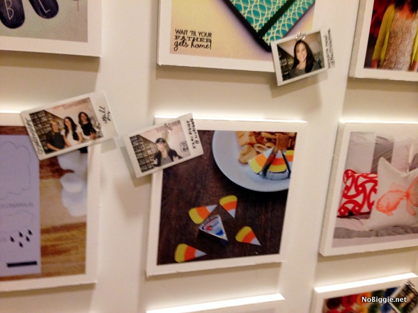the big photo wall at the Cricut Explore launch party