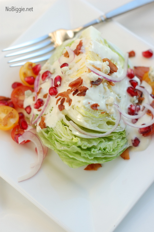 the classic wedge with pomegranate seeds - get the recipe on NoBiggie.net