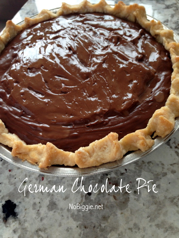 German Chocolate Pie - NoBiggie.net