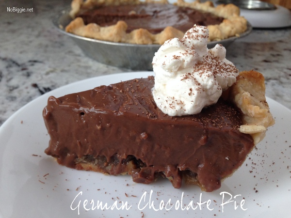 German Chocolate Pie recipe | NoBiggie.net