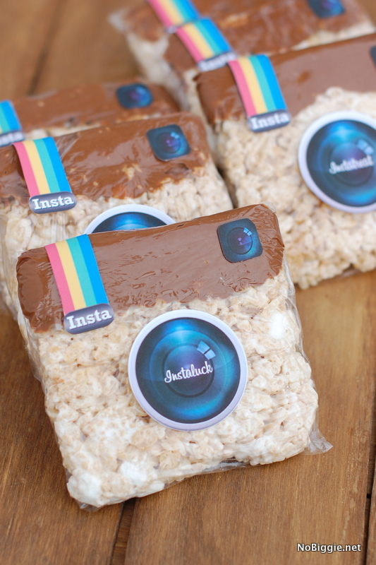 Instagram Rice Krispie Treats with a free print via NoBiggie.net
