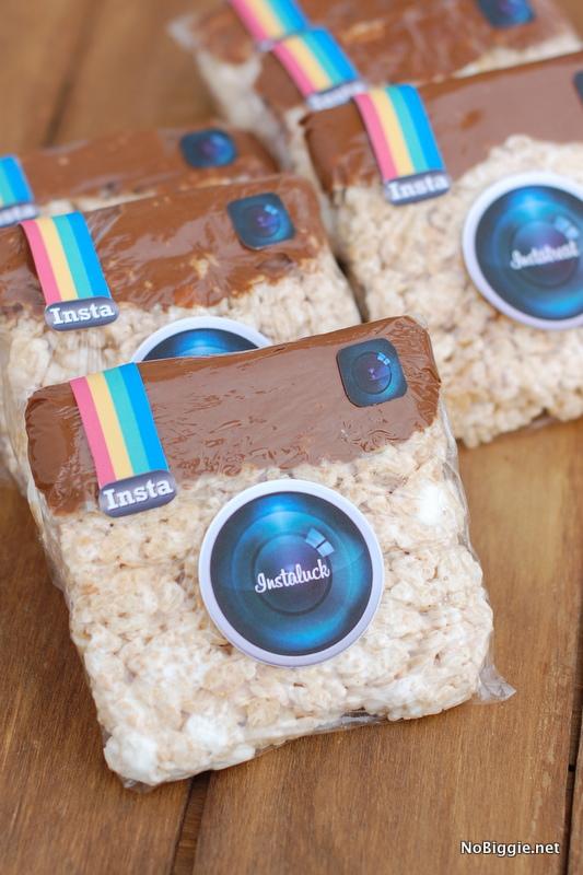 Instagram Rice Krispie Treats with a free print via NoBiggie.net