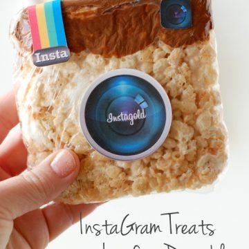Instagram Rice Krispie Treats with a free printable | NoBiggie.net