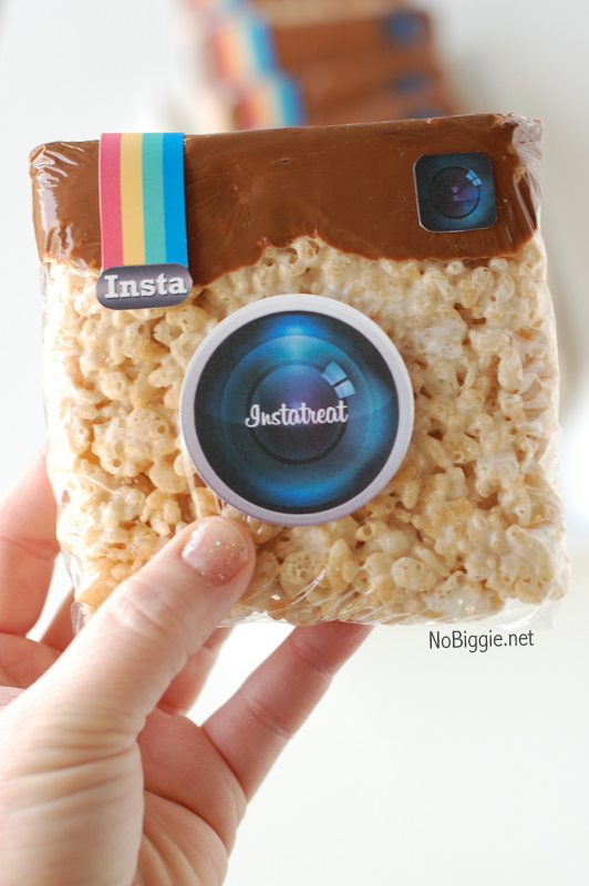 Instagram Treats with a free printable via NoBiggie.net