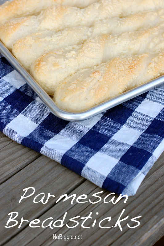 Parmesan Breadsticks - big soft, fluffy and cheesy…what more could you ask for - recipe| NoBiggie.net