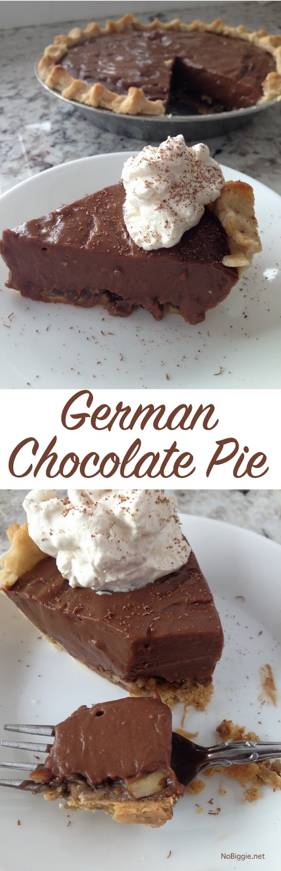 german chocolate pie - like german chocolate cake...only PIE! | NoBiggie.net
