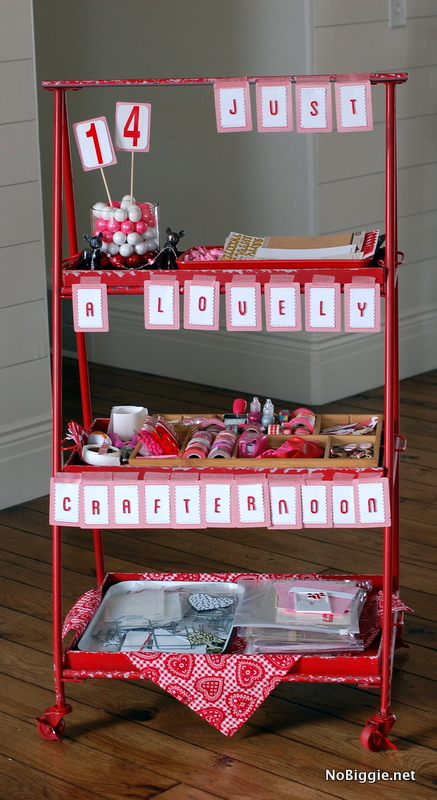 ideas for a Valentine's Day crafternoon - NoBiggie.net
