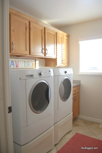 laundry room cabinets before