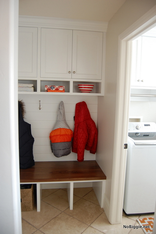 the 'after' - mudroom and laundry room - NoBiggie.net