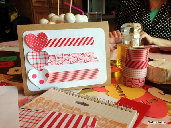 washi tape Valentine's Day card ideas - NoBiggie.net