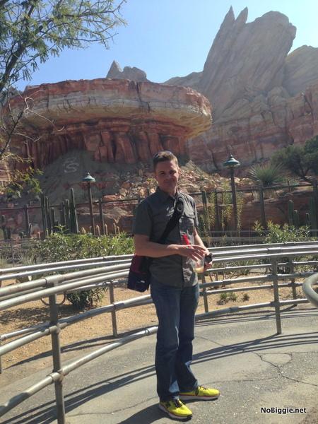 Kyle in CarsLand Disneyland 2014 trip - NoBiggie.net