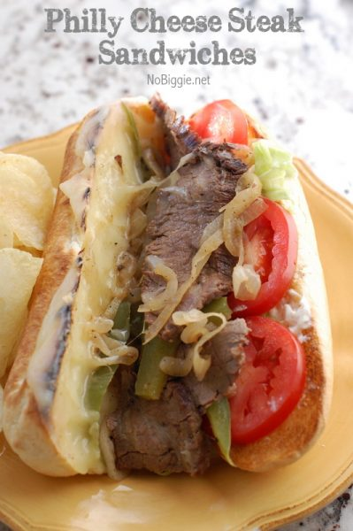 Philly Cheese Steak Sandwiches | NoBiggie.net