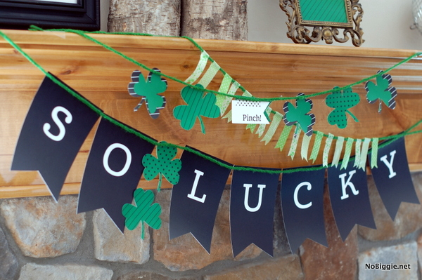 St. Patrick's Day banner layered