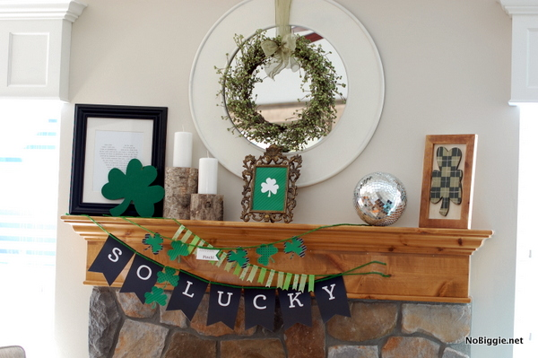 St. Patrick's Day Mantle | 25+ St. Patrick's Day ideas