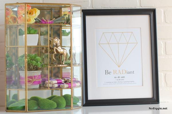 Be radiant – free printable