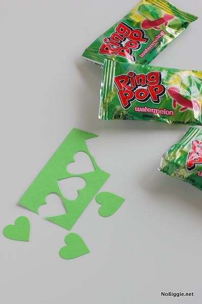 die cut paper hearts - NoBiggie.net