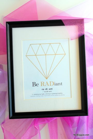 Be radiant – free printable