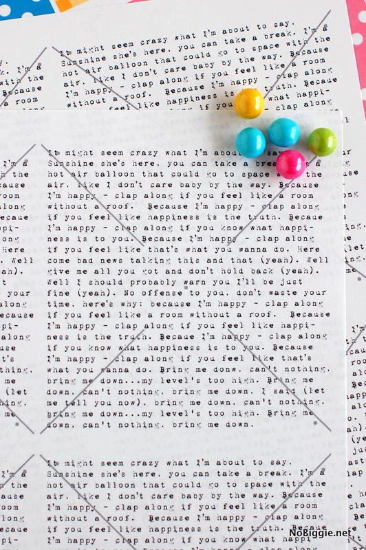 lyrics to Happy by Pharrell on a paper pinwheel for Spring! - download at NoBiggie.net