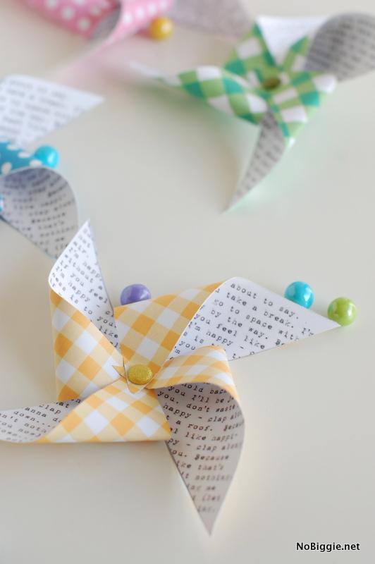 printable paper pinwheels - for Spring! - NoBiggie.net