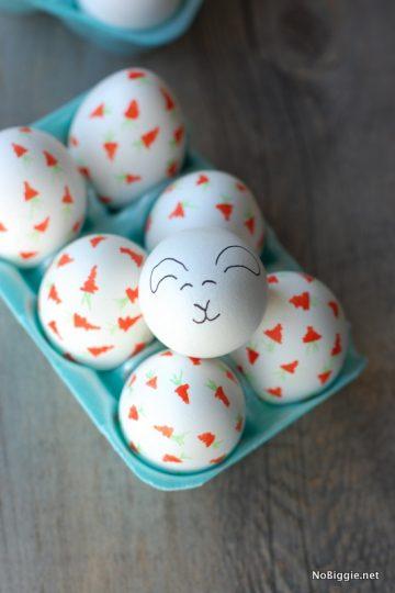 Carrot Confetti Easter Eggs
