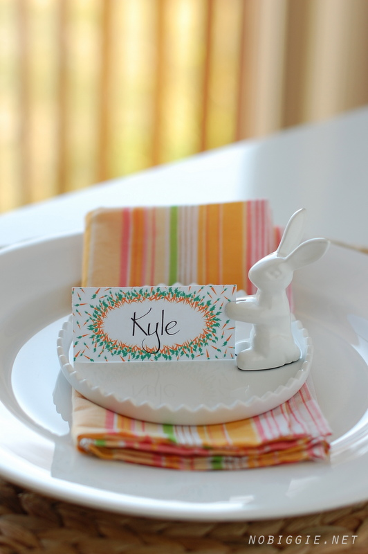 Free printable placecards for Easter | NoBiggie.net