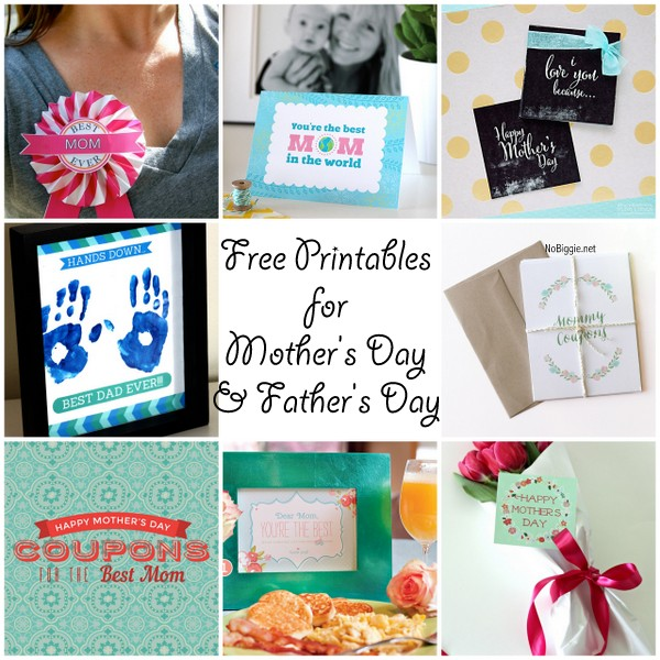 Free printables for Mother's Day and Father's Day + a bloghop