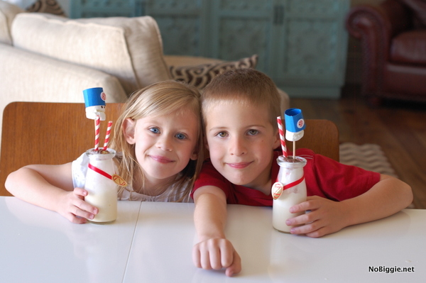 drinking the marshal mallow milkshake - NoBiggie.net