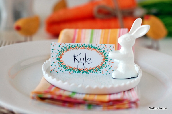 Easter Brunch place cards and banner – Easter Place Card Holders
