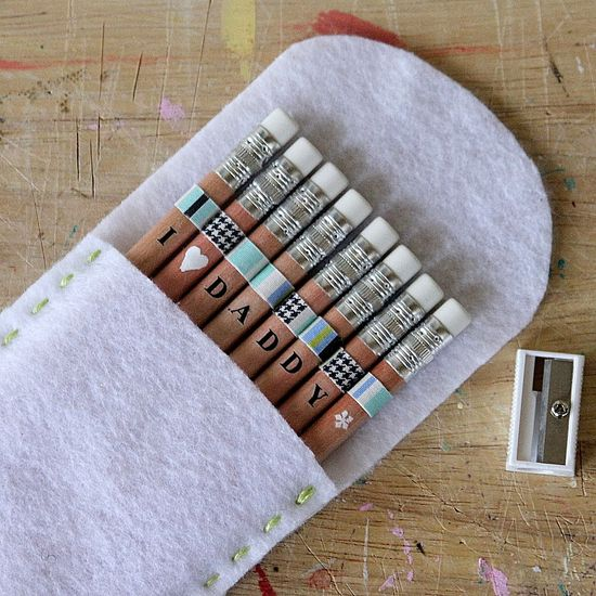 Personalized Pencils | 25+ Fathers Day Gift Ideas