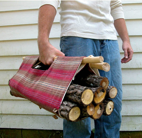 Firewood Tote | 25+ Fathers Day Gift Ideas