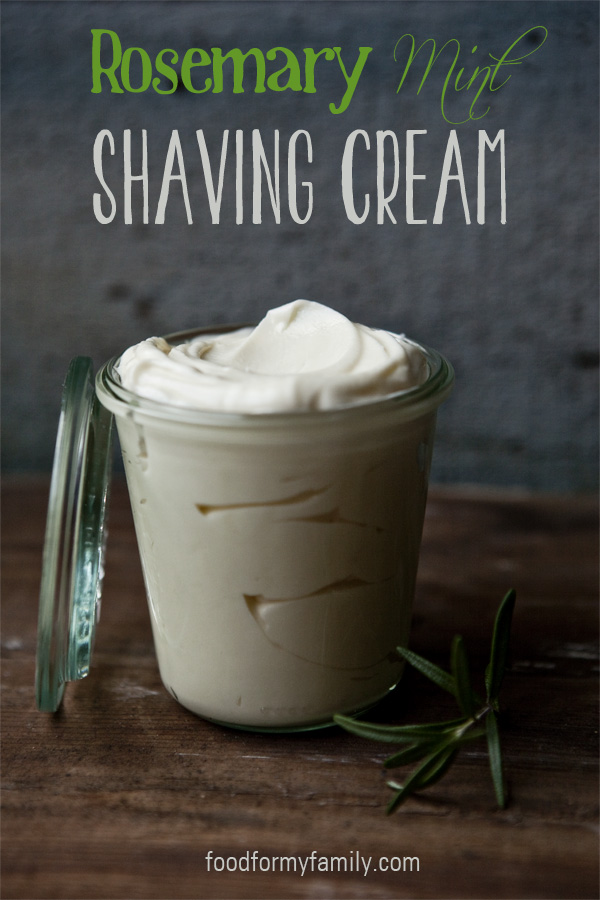 Homemade Rosemary Mint Shaving Cream | 25+ Fathers Day Gift Ideas