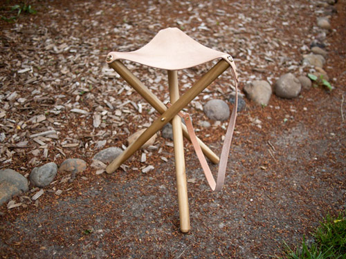 DIY Tripod Camping Stool | 25+ Fathers Day Gift Ideas
