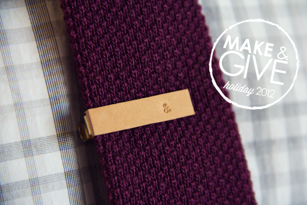 DIY Stamped Leather Tie Clip | 25+ Fathers Day Gift Ideas