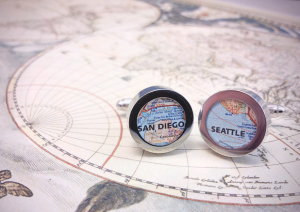 DIY Map Cufflinks | 25+ Fathers Day Gift Ideas