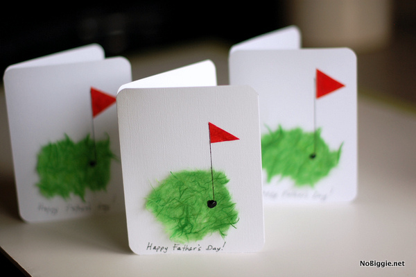 Handmade Golfer Card | 25+ Fathers Day Gift Ideas | NoBiggie.net