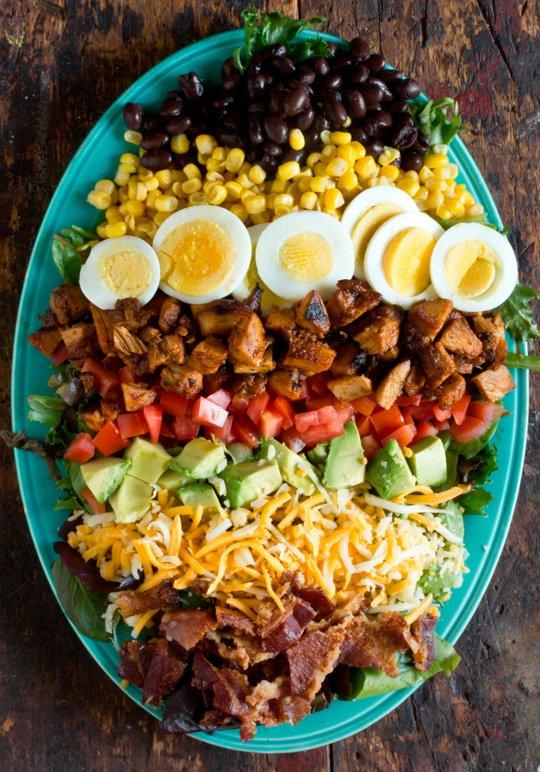 BBQ Chicken Cobb Salad | 25+ delicious salad recipes