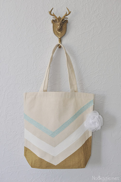 DIY Geometric canvas tote tutorial | nobiggie.net