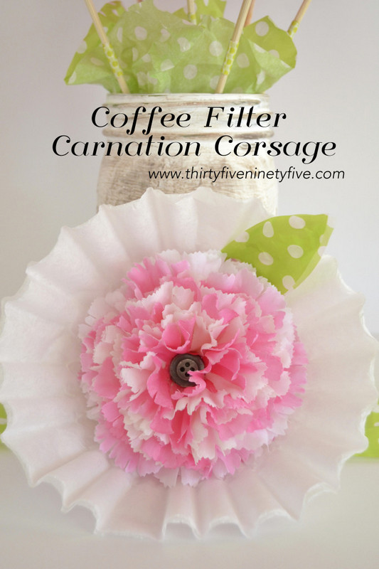 Coffee filter carnation