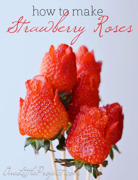 DIY Strawberry Roses | NoBiggie.net