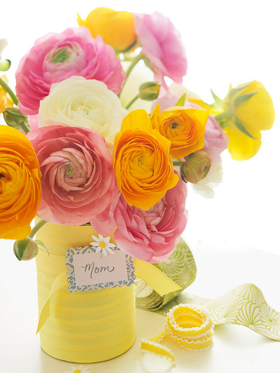 DIY floral gifts for Mother's Day