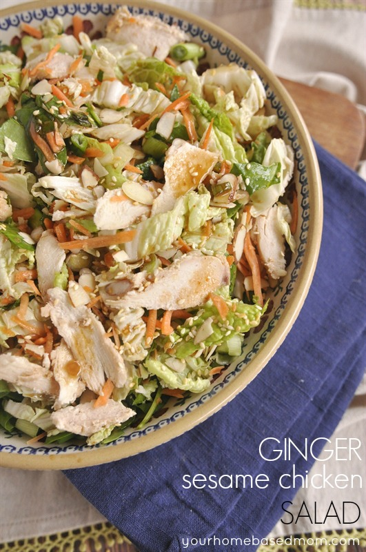 Ginger Sesame Chicken Salad | 25+ delicious salad recipes