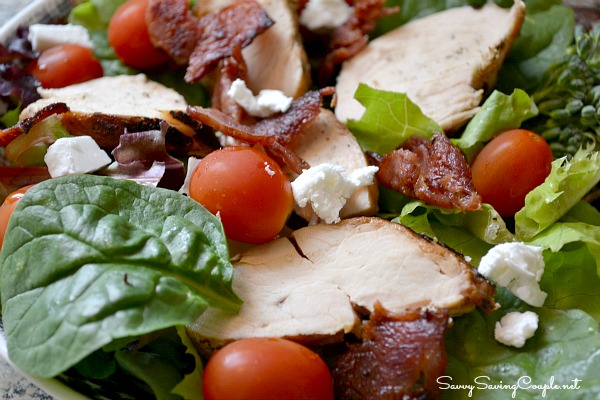 Grilled Chicken Bacon and Goat Cheese Salad | 25+ delicious salad recipes