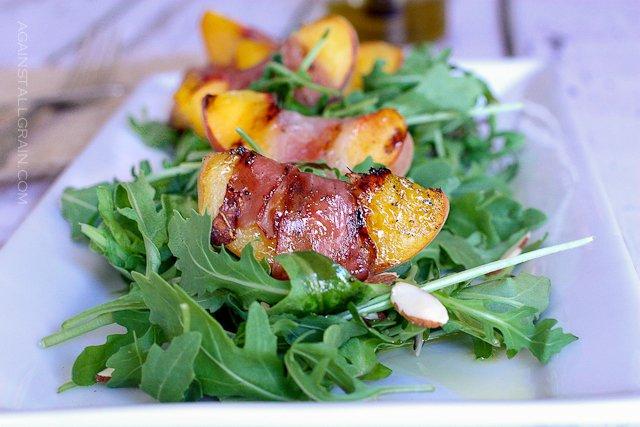 grilled prosciutto peach salad | 25+ delicious salad recipes