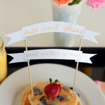 breakfast in bed banner for mother's day | NoBiggie.net