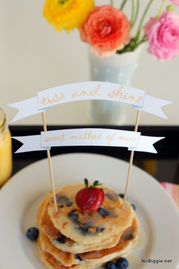 Mother's Day breakfast in bed printable banner